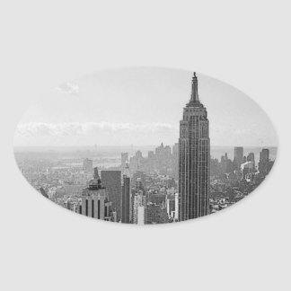 New York City Oval Stickers