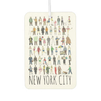 New York City People of NYC Brooklyn Queens Bronx Air Freshener