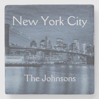 New York City Personalize this Skyline Stone Coaster