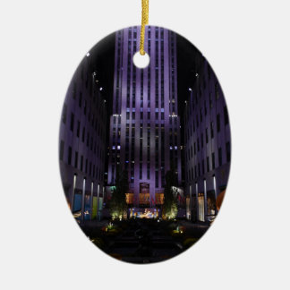 New York City Photography Channel Gardens NYC Ceramic Ornament