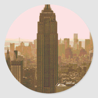 New York City Poster Round Sticker