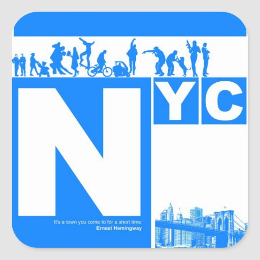 New York City Poster Stickers