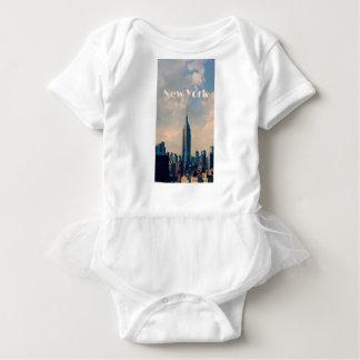 "New York City Print "" I love New York"" Baby Bodysuit"