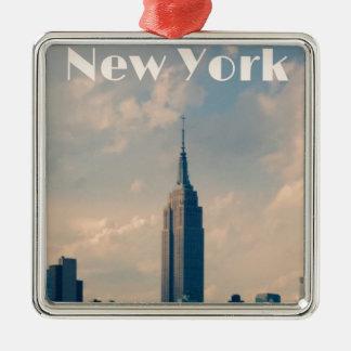 "New York City Print "" I love New York"" Metal Ornament"