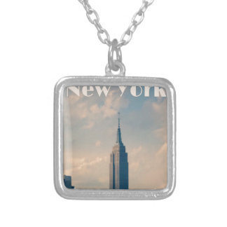 "New York City Print "" I love New York"" Silver Plated Necklace"
