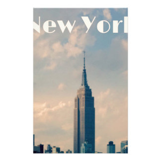 "New York City Print "" I love New York"" Stationery"