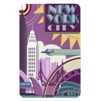 new york city rectangular photo magnet