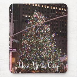 New York City Rockefeller Center Christmas Tree Mouse Pad