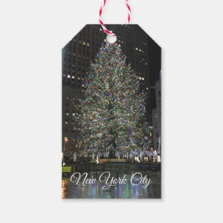 New York City Rockefeller Center Christmas Tree NY Gift Tags