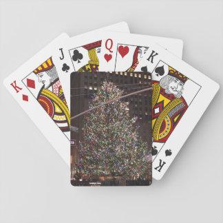 New York City Rockefeller Center Christmas Tree Playing Cards