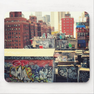 New York City Rooftops Covered in Graffiti Mouse Pad