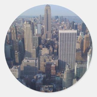 New York City Round Sticker