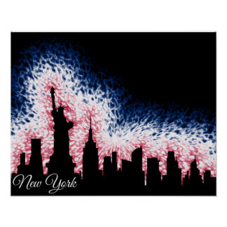 New York City Silhouette Poster