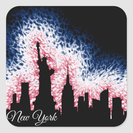 New York City Silhouette Square Sticker