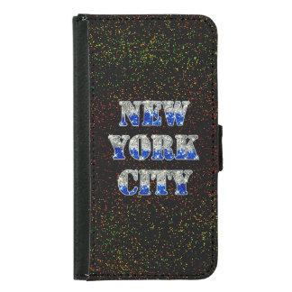 New York City Silver Blue Glitters