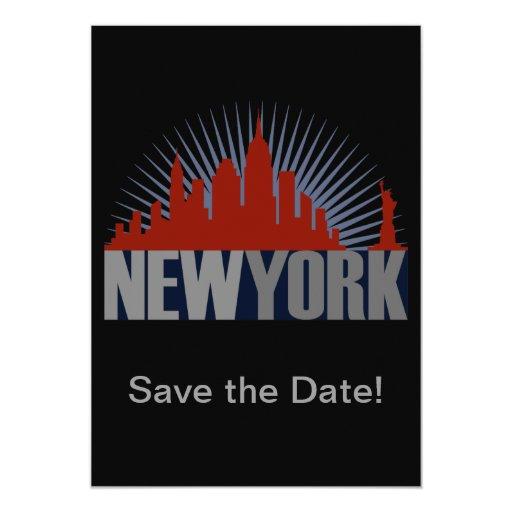 "New York City Skyline 5"" X 7"" Invitation Card"