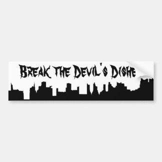 New York City Skyline and Break the Devil's Dishes Bumper Sticker