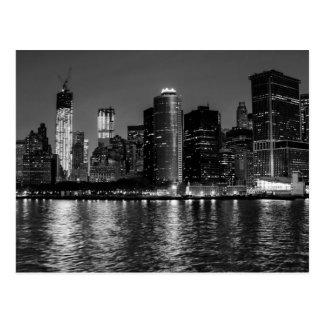 New York City Skyline at Night Postcard