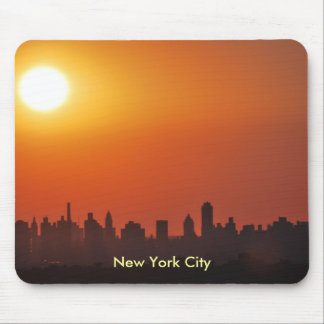 New York City skyline at sunset mouse pad