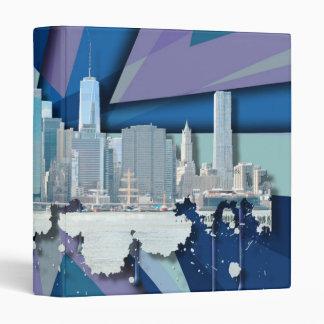 New York City Skyline | Blue 3D Binder
