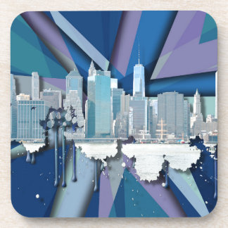 New York City Skyline | Blue 3D Coaster