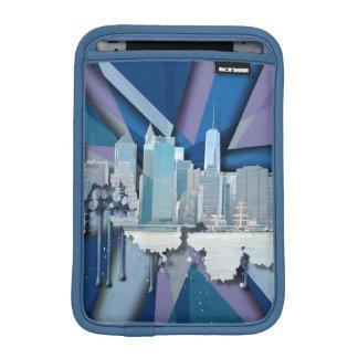 New York City Skyline | Blue 3D iPad Mini Sleeve
