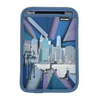 New York City Skyline | Blue 3D iPad Mini Sleeves