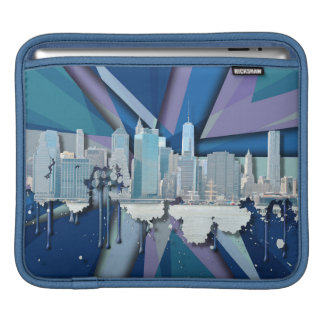 New York City Skyline | Blue 3D iPad Sleeve