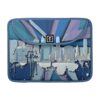 New York City Skyline | Blue 3D MacBook Pro Sleeve
