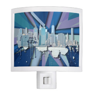 New York City Skyline | Blue 3D Nite Lite