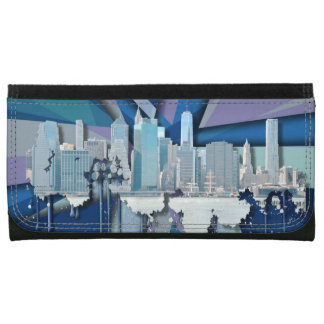 New York City Skyline   Blue 3D Wallets