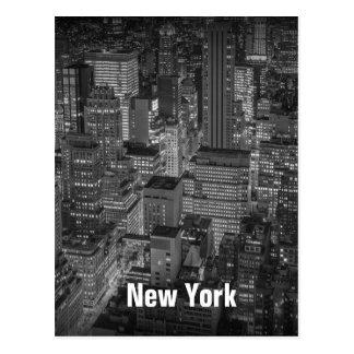 New York City Skyline Buildings at Night Postcard