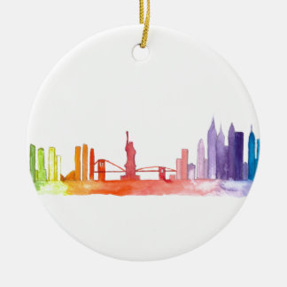 NEW YORK CITY skyline Ceramic Ornament