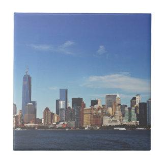 New York city skyline Ceramic Tile
