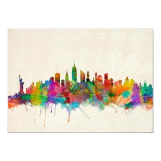 "New York City Skyline Cityscape 5"" X 7"" Invitation Card"