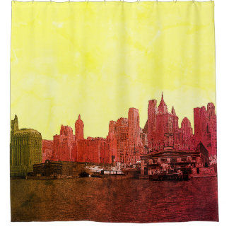 NEW YORK CITY SKYLINE COLORFUL COMIC LOOK