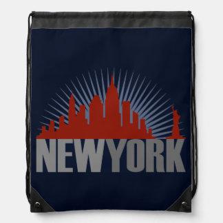 New York City Skyline Drawstring Bag