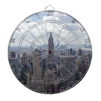 New York City Skyline Empire State Building NYC Dartboard