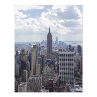 New York City Skyline Empire State Building NYC Letterhead
