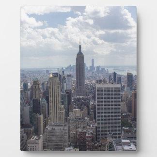 New York City Skyline Empire State Building NYC Plaque