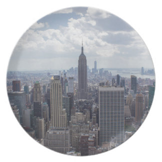 New York City Skyline Empire State Building NYC Plate