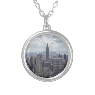 New York City Skyline Empire State Building NYC Silver Plated Necklace