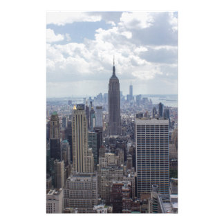 New York City Skyline Empire State Building NYC Stationery