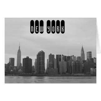 New York City Skyline - Manhattan from East River Card