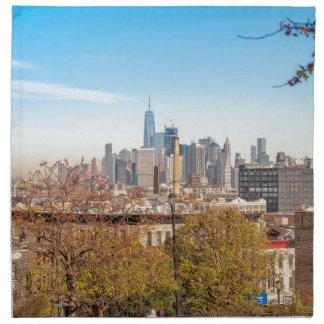 New York City Skyline Napkin