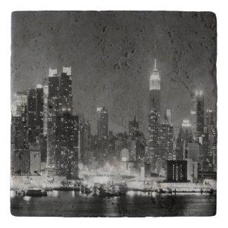 New-York City Skyline Panoramic View Trivet