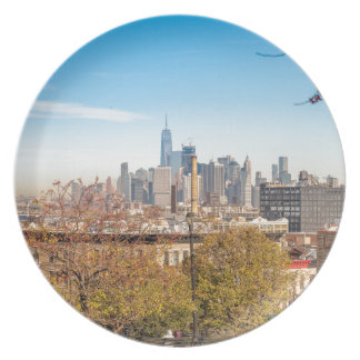 New York City Skyline Plate