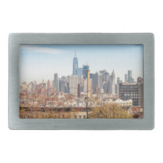 New York City Skyline Rectangular Belt Buckles