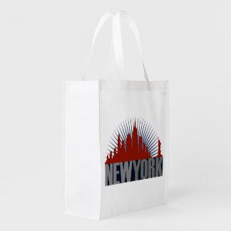 New York City Skyline Reusable Grocery Bag