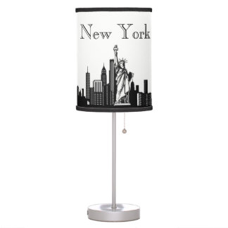 New York City Skyline Silhouette Desk Lamp